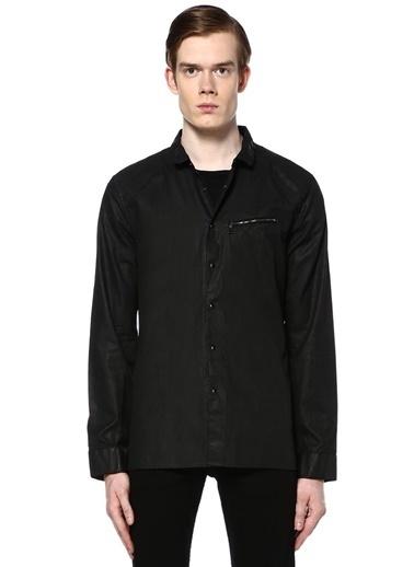Çıtçıtlı Uzun Kollu Gömlek-John Varvatos